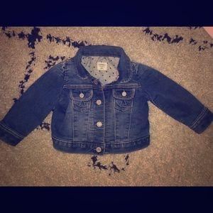 Baby Gap Baby Girl Lined Denim Jacket 6-12 months